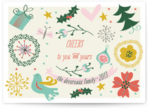 Naive Noel Holiday Non-Photo Cards
