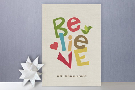 Believe Always Holiday Cards