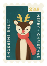Reindeer Stamp Holiday Non-Photo Cards
