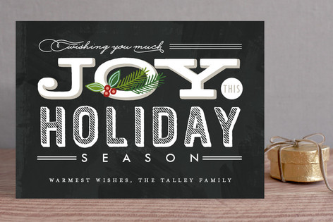 Casual Chalkboard Holiday Cards