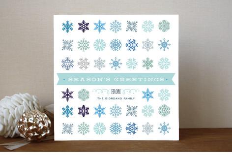 Snowflake Cornucopia Holiday Cards