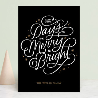 Scripted Merry Holiday Cards