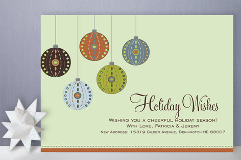 Decorative Ornaments Holiday Cards