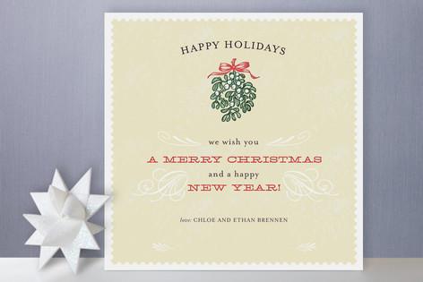 Mistletoe Flourish Holiday Cards