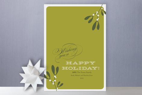 Mistletoe Holiday Cards