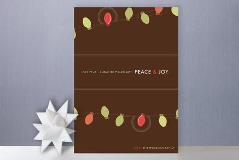 Simple Bulbs Holiday Cards