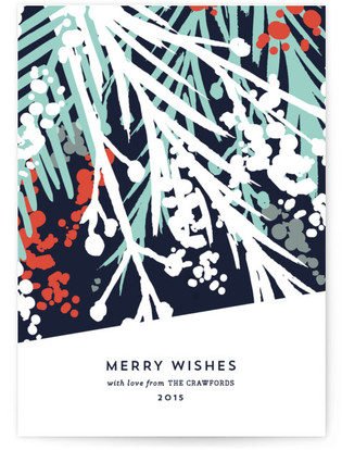 Merry Wishes Holiday Non-Photo Cards