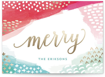 Modern Merry Holiday Non-Photo Cards