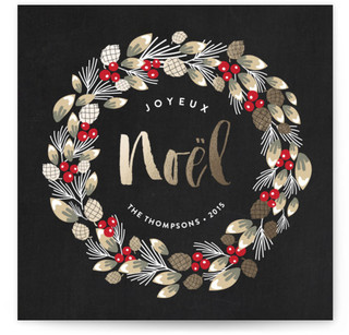 Noel Wreath Holiday Non-Photo Cards