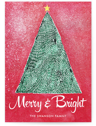 Merry and Bright Christmas Holiday Non-Photo Cards