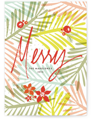 Merry, Bold & Bright Holiday Non-Photo Cards