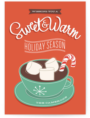 Sweet + Warm Holiday Non-Photo Cards