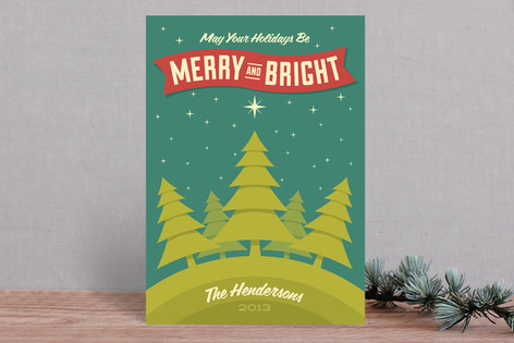 Merry Forest Holiday Cards