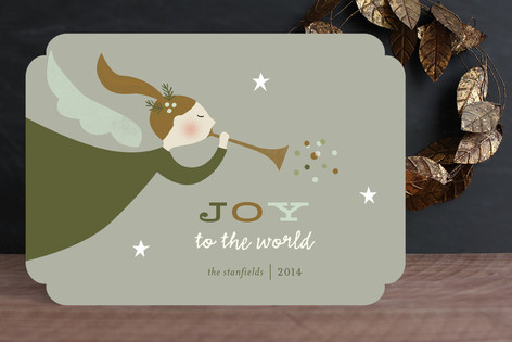 Starry Angel Holiday Cards