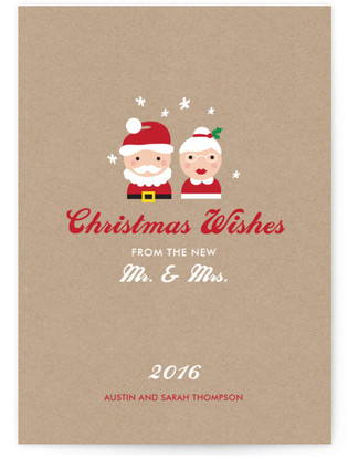 Mr. & Mrs. Wishes Holiday Non-Photo Cards