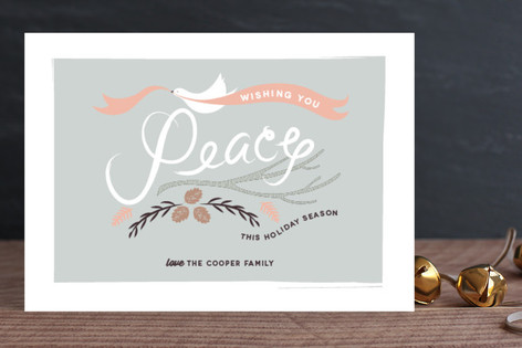 Peace Dove and Branches Holiday Cards