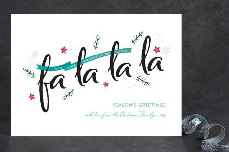 Festive fa la la la Holiday Cards