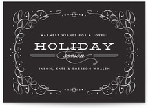 Vintage Chic Holiday Non-Photo Cards