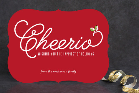 Cheerio Holiday Cards