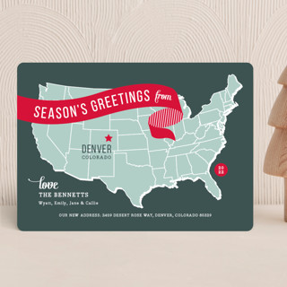 Holiday Map Holiday Cards