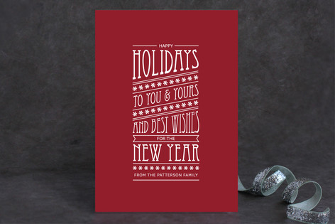 Type for the Holidays Holiday Cards