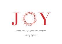 Joy Wreath Holiday Non-Photo Cards