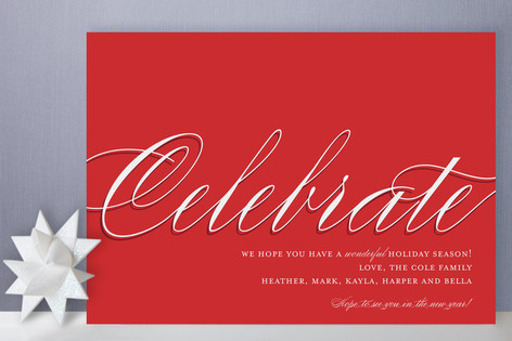 In Style Celebration Holiday Cards