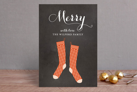 Holiday Stockings Classic Holiday Cards
