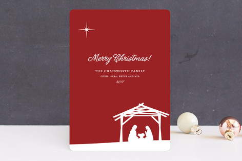 Away In a Manger Holiday Cards