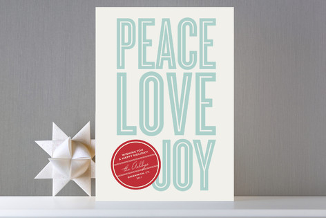 Retro Peace Holiday Cards