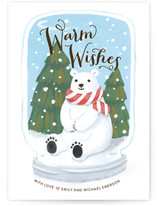 Polar Bear Snow Globe by Four Wet Feet Studio
