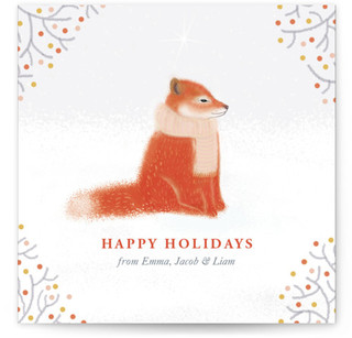 Red Fox Holiday Non-Photo Cards