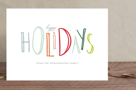 Happy-Go-Lucky Holidays Holiday Cards