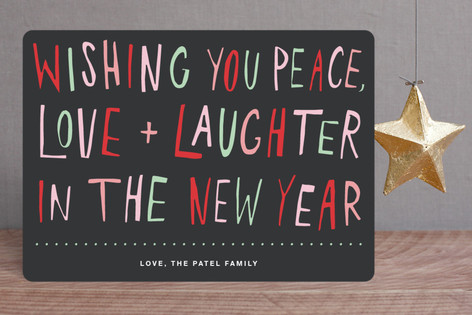 Love and Laughter Holiday Cards