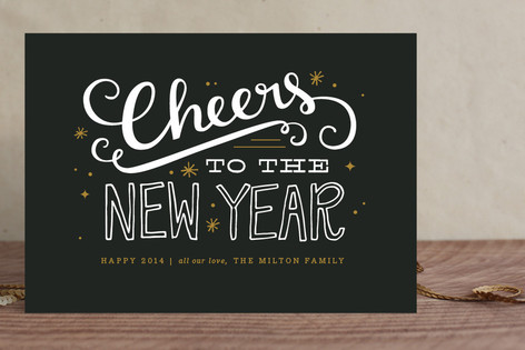 Bold Cheers Holiday Cards