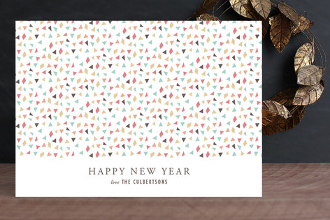 Confetti New Year Holiday Cards