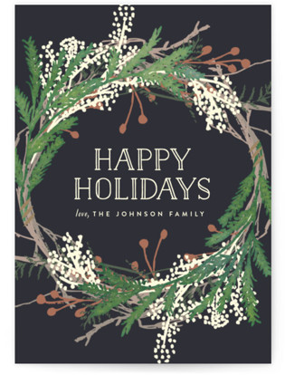 Pine Circle Holiday Non-Photo Cards
