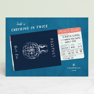 Checking in twice Holiday Cards