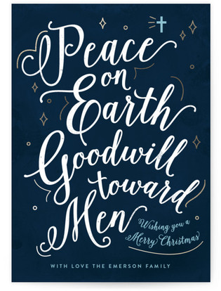 Goodwill toward Men Holiday Non-Photo Cards