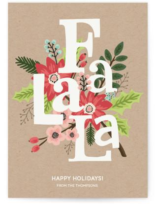 Fa La La Holiday Non-Photo Cards