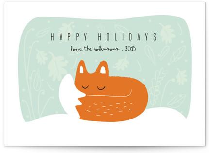 Winter fox Holiday Non-Photo Cards