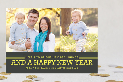 Bright Beginnings New Year Photo Cards