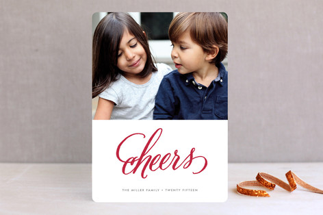 Cheers New Year Photo Cards