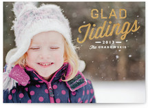 Glad Tidings New Year's Photo Cards