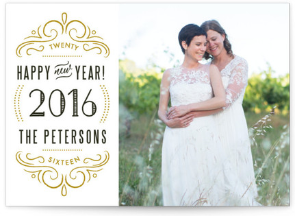 Embellished New Year's Photo Cards