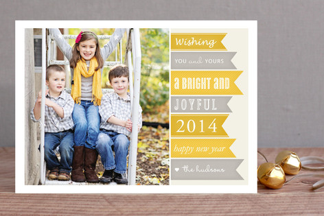 New Year Banners New Year Photo Cards