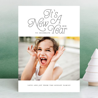 Groovy Year New Year Photo Cards