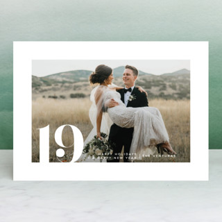 Bold Date New Year Photo Cards