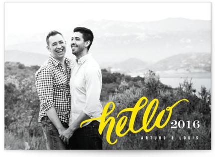 Hello Happy New Year New Year's Photo Cards