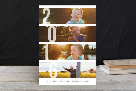 Stacked Photos New Year Photo Cards